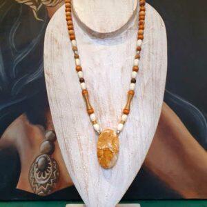 Collier Agate Mousse d'Afrique