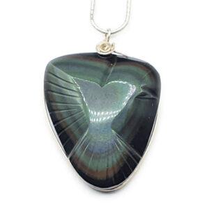 Obsidienne œil céleste sculptée (M) - Protection & Vision
