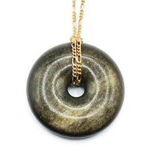 Obsidienne dorée donut (M) - Protection & lumière intérieure