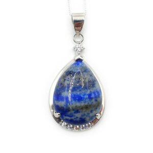 Lapis-lazuli serti argent (M) - Force & Intégrité