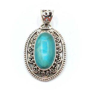 Turquoise sertie argent (M) - Soigner & Apaiser