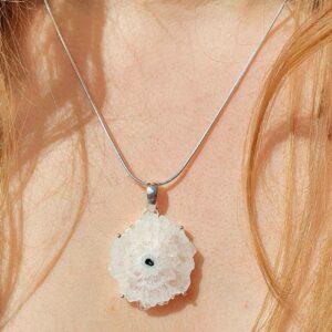 Fleur naturelle de cristal (M) - Pureté & clairvoyance